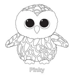 Print leona beanie boo coloring pages embroidery patterns