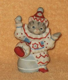 """Schmid Kitty Cucumber By B. Shackman """" send in the Clown """" in Collectibles, Decorative Collectibles, Decorative Collectible Brands 