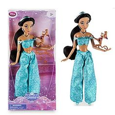 DISNEY STORE JASMINE 12 CLASSIC DOLL WITH ABU -- Visit the image link more details.