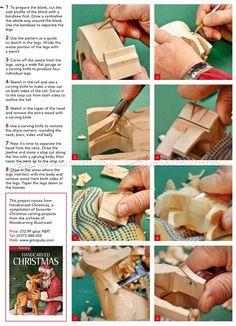 #2344 Reindeer Carving - Wood Carving Patterns - Wood Carving