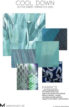 Functional fabrics summer 2019 with cooling effect ->learn more in my post on www.moject.de .#coolingfabrics #fabrics #fabrictrends #coolingtechnology #performancedays