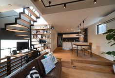 Apartment: Modern Architecture and Scandinavian Interior Design of A Bright Apartment Scandinavian Interior Design, Modern Interior Design, Interior Design Inspiration, Interior Architecture, Interior Ideas, Staircase Storage, Warehouse Living, Bright Apartment, Compact House