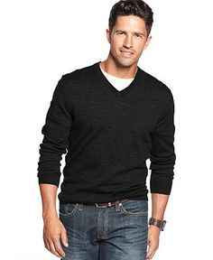Club Room Sweater, Merino Blend V-Neck - Sweaters - Men - Macy's