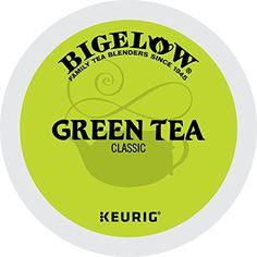 Bigelow Green Tea Keurig K-Cups, Box of 12 Cups (Pack of 72 K-Cup Pods Total , Single Serve Portion Premium Tea in Pods, Compatible with Keurig & other K Cup Coffee & Tea Brewers Coffee Beans, Coffee Cups, Detox Tea Diet, Detox Foods, Detox Drinks, Best Green Tea, Coffee Tasting, K Cups