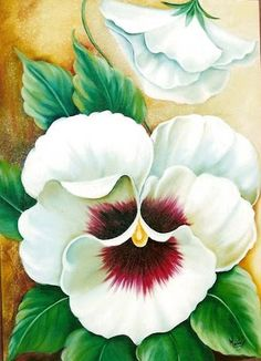 LAMINAS... Y TRABAJOS CON FLORES (pág. 90) | Aprender manualidades es facilisimo.com Watercolor Art, Flower Painting, Art Painting, Art Drawings, Floral Art, Fabric Painting, Watercolor Flowers, Canvas Art, Decorative Painting