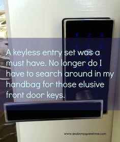 Keyless Entrance set makes life easier. #keylessentrance #renovation