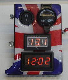 Citroen 2CV Digital Side Dash Made in England Union Jack Design UK Supplier