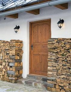 House Entrance, Firewood, House Plans, Cottage, Windows, Traditional, Country, Photography, Cabins