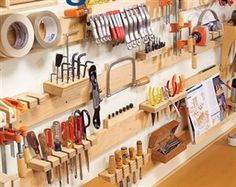 french cleat garage organization - Google Search