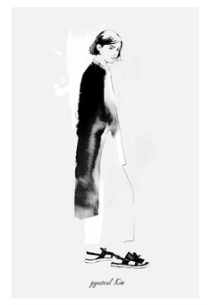 Black & white fashion illustration // Gyu-Seul Kim