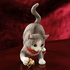 LENOX Figurines:  - Christmas Kitty Jingle Cat Figurine