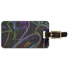Graffiti 10 Luggage Tag with Customisable Details  $11.60  by alanharman  - cyo customize personalize unique diy idea