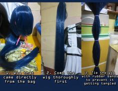 How to Make your Wig less Shiny: http://www.uniqso.com/wig/blue-wig/cosplay-wig-umineko-no-nakukoroni-furudo-erika