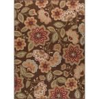 Majesty Brown 7 ft. 6 in. x 9 ft. 10 in. Transitional Area Rug