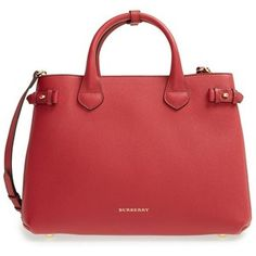 Women's Burberry Medium Banner Leather Tote