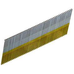 """Hitachi 24206S 2-1/2"""" 15 Gauge Electro Galvanized Angled Finish Nails"""