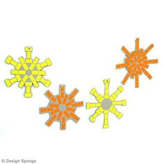 Bricolage Noel : Suspensions flocons de neige