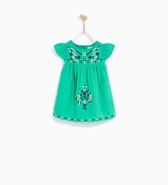 FLORAL EMBROIDERED DRESS-DRESSES AND JUMPSUITS-BABY GIRL   3 months - 4 years-KIDS   ZARA United States