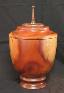 Custom Exotic Wood Urns Created By Local Hawaiian Artist & Woodturner Larry Grodin.