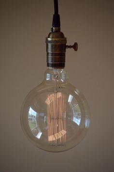 Image result for large round edison lights