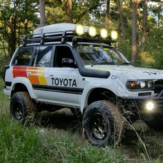 Add company colours to Xterra Toyota 4x4, Toyota Trucks, Toyota 4runner, 4x4 Trucks, Land Cruiser Fj80, Landcruiser 80 Series, Carros Toyota, Samurai, Off Road Racing