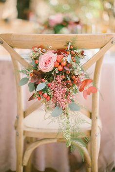 Romantic Autumn Wedding Chair Decor // Photography ~ Anna Roussos Photography