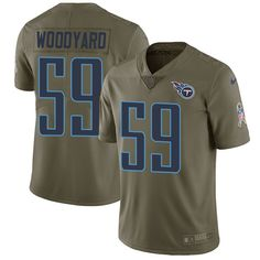 Nike Titans #59 Wesley Woodyard Olive Men's Stitched NFL Limited 2017 Salute to Service Jersey