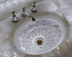 Pretty sink!  This would look nice in the grey/white bathroom with the pretty mirror.  Hmmmm.....   Powder Room Design, Pictures, Remodel, Decor and Ideas - page 56