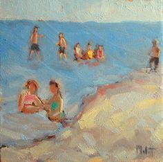 """Beach Play""  oil paintings - Heidi Malott"