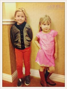 Liam and Miss Stella striking a pose... #Toddleristas