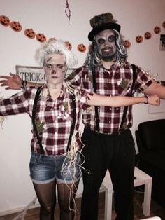 Scarecrow Vogelscheuche costume Kostüm Halloween couple paar