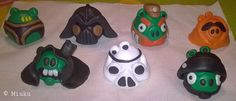 Star Wars Angry Birds from FIMO. / Agnry Birds -hahmoja FIMO massasta. Shrink Plastic, Angry Birds, Paper Art, Star Wars, Crafts, Painting, Fimo, Papercraft, Manualidades