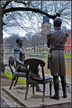 Watching upon Turku, Tsar Alexander and King of Sweden, Turku, Finland Copyright: Ruxandra Canarache Helsinki, Statues, Turku Finland, Finland Travel, Europe, Baltic Sea, Stockholm Sweden, Winter Travel, Art And Architecture
