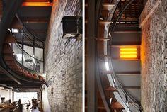 Bookmarc: Killer coffee roaster in Surry Hills - Sydney Interior Architecture, Interior Design, Surry Hills, Fluorescent Lamp, Jpg, Light Orange, Surrey, Wall Lights, Train Station