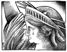 statue of liberty crying 9/11 | is the statue of liberty which stands for liberty. She is crying ...