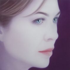 Josie McCoy - Meredith Grey, 100 x oil on canvas, 2014 Meredith Grey's Anatomy, Blood Art, Greys Anatomy, Online Art, My Images, Oil On Canvas, Original Art, Drawings, Kai