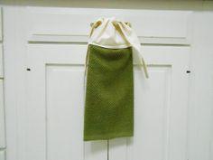 Kitchen Hand Towel Tie On Towel Towel With Ties By AkornShop, $6.95