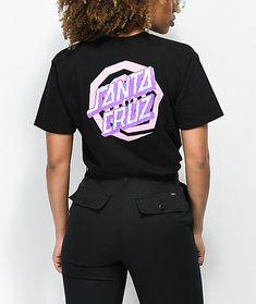 3ef1fc7f3ec Santa Cruz Illusion Dot Black T-Shirt Santa Cruz Shirt