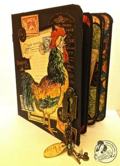 This is a fantastic French Country folio album by @Clare Charvill ! Click to see pictures of all the great pages! #graphic45 #folioalbums