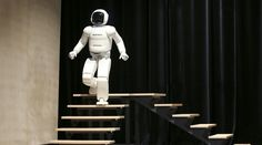 Honda's latest version of the Asimo humanoid robot walks down stairs during a presentation in Zaventem near Brussels July 16, 2014. Honda introduced in Belgium an improved version of its Asimo humanoid robot that it says has enhanced intelligence and hand dexterity, and is able to run at a speed of some 9 kilometres per hour (5.6 miles per hour). REUTERS/Francois Lenoir (BELGIUM - Tags: SCIENCE TECHNOLOGY BUSINESS SOCIETY) - RTR3YVL3     Roughly half of the workforce in the UK and the US…