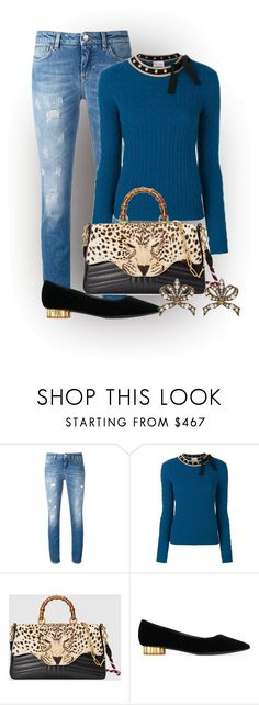 """""""Leopard bag"""" by ilikemike ❤ liked on Polyvore featuring Dolce&Gabbana, RED Valentino, Gucci and Salvatore Ferragamo"""