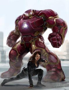 Avengers: Age of Ultron - Hulkbuster Concept process breakdown, Phil Saunders Marvel Comics Art, Marvel Heroes, Marvel Characters, Iron Man Suit, Iron Man Armor, Iron Man Avengers, Avengers Age, Marvel Universe, Iron Man Hulkbuster