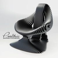 Furniture and interior design Parametric ARCH - Assises Funky Furniture, Plywood Furniture, Unique Furniture, Custom Furniture, Furniture Decor, Furniture Design, Furniture Dolly, Deco Cool, Parametric Design