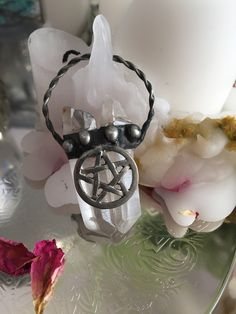 Excited to share the latest addition to my #etsy shop: Crystal necklace, wiccan, witch, pagan jewelry, pentacle neckalce, pentagram, bohemian, tarot, spirituality, spiritual necklace, crystals,