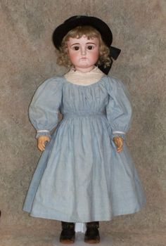 "27"" Kestner Pouty German Bisque Doll ~ Antique Clothing - Faraway Antique Shop #dollshopsunited"