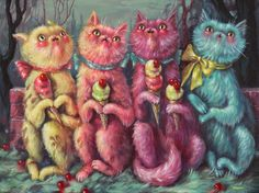 New work by So Cal-based pop surrealism painter Brandi Milne. Her solo exhibition Once Upon a Quiet Kingdom opens at Corey Helford Gallery Arte Lowbrow, Wow Art, Art And Illustration, Portrait Illustration, Art Illustrations, Fashion Illustrations, Fashion Sketches, Creepy Cute, Weird Art