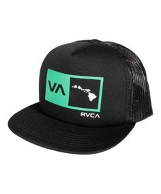 5c44054c Men's RVCA Hawaii Trucker Hat - Island Square; Color Options: Navy and  Black. $20.00 Available online at www.islandsnow.com and at the Island Snow  Hawaii ...