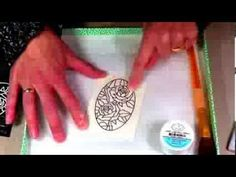 You Tube video by Els van de Burgt showing you how to color on top of the Silk Microfine Glitter using Alcohol Markers.