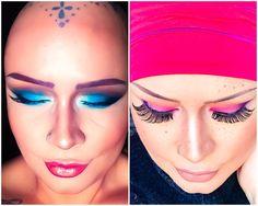 Eyeshadows by KARITY beauty. Amazing! Headwear by MASUMIHEADWEAR