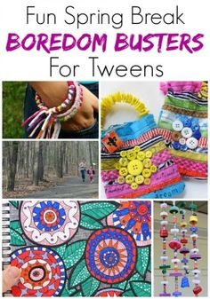 """Stop """"I'm bored"""" in its tracks with these awesome ideas! These 25 spring break boredom busters for tweens are perfect for anytime the kids need a bit of help figuring out what to do! break 25 Spring Break Boredom Busters for Tweens & Teens Arts And Crafts For Teens, Crafts For Girls, Crafts To Do, Art For Kids, Teenage Girl Crafts, Older Kids Crafts, Tape Crafts, Kids Diy, Big Kids"""